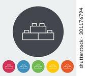 building block icon. thin line... | Shutterstock .eps vector #301176794