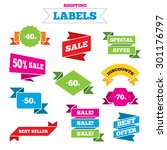 sale shopping labels. sale... | Shutterstock .eps vector #301176797
