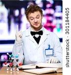 Small photo of Genius, mad, scientist.