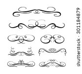 set of elegant flourishes for... | Shutterstock .eps vector #301184879