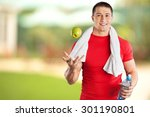 men  exercising  healthy... | Shutterstock . vector #301190801