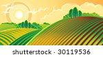 rural landscape. spring. | Shutterstock .eps vector #30119536
