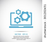 laptop and gears icon. one of... | Shutterstock .eps vector #301202651