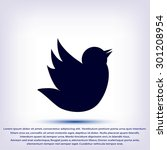 doodle bird icon | Shutterstock .eps vector #301208954