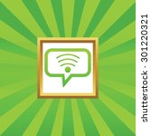 wi fi symbol in chat bubble  in ...