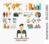 travel agent. infographic   Shutterstock .eps vector #301221881