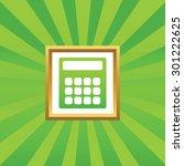 image of calculator in golden...