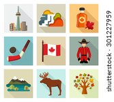 canada icon set | Shutterstock .eps vector #301227959