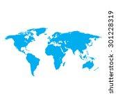 earth map blue | Shutterstock . vector #301228319