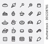 set of dessert and sweets icon