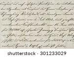 antique calligraphic... | Shutterstock . vector #301233029