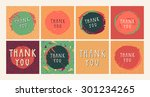 a set of 8 colorful vector... | Shutterstock .eps vector #301234265