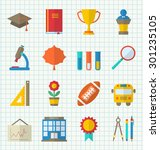 illustration school colorful... | Shutterstock . vector #301235105