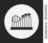 amusement park roller coaster... | Shutterstock .eps vector #301244051