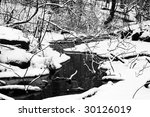 this is a stream in winter. | Shutterstock . vector #30126019