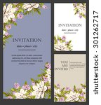 romantic invitation. wedding ... | Shutterstock .eps vector #301262717