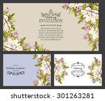 romantic invitation. wedding ... | Shutterstock .eps vector #301263281