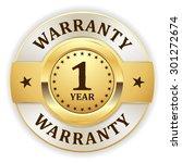 gold 1 year warranty badge on... | Shutterstock .eps vector #301272674