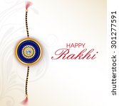 raksha bandhan greeting card or ... | Shutterstock .eps vector #301277591