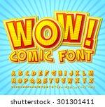 creative high detail yellow red ... | Shutterstock .eps vector #301301411