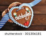 original bavarian salted soft...   Shutterstock . vector #301306181