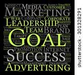 concept or conceptual text word ... | Shutterstock . vector #301328291