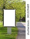 Blank billboard on a street  - stock photo