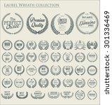 premium quality laurel wreath... | Shutterstock .eps vector #301336469