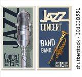 jazz music festival  poster | Shutterstock .eps vector #301338551
