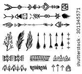 tribal vintage ethnic design... | Shutterstock .eps vector #301345571