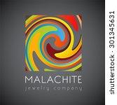 logo template  malachite ... | Shutterstock .eps vector #301345631
