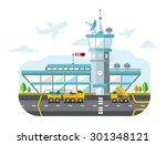 travel lifestyle concept of... | Shutterstock .eps vector #301348121