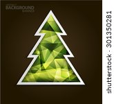 christmas tree christmas card.... | Shutterstock .eps vector #301350281