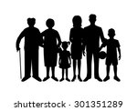 big happy family. father ...   Shutterstock . vector #301351289
