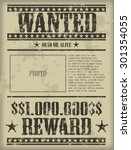 Vintage Wanted Poster   Vector...
