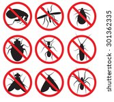 pests vector silhouettes... | Shutterstock .eps vector #301362335