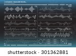 futuristic equalizer waves for... | Shutterstock .eps vector #301362881