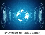 globe internet connecting | Shutterstock . vector #301362884