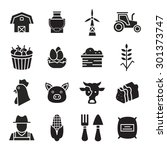 agriculture icons  | Shutterstock .eps vector #301373747