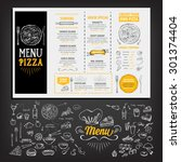 restaurant cafe menu  template... | Shutterstock .eps vector #301374404