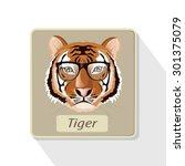 illustration. tiger   Shutterstock .eps vector #301375079