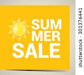 vector summer sale label or... | Shutterstock .eps vector #301376441