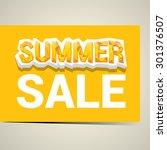 vector summer sale label or... | Shutterstock .eps vector #301376507