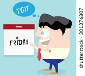 thanks god it's friday concept. ... | Shutterstock .eps vector #301376807