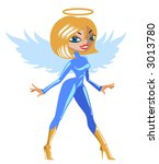 lady angel | Shutterstock .eps vector #3013780