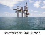 drilling rig at sunny day | Shutterstock . vector #301382555