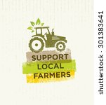 support local farmers creative... | Shutterstock .eps vector #301383641