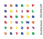 color alphabet with shadow....
