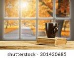 Autumn Window Of Sun Light And...