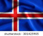 Flag Of Iceland. Flag Has A...